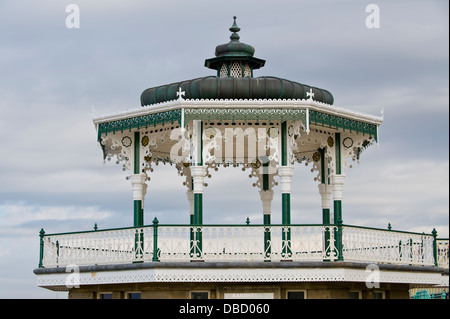 Victorian bandstand on the seafront at Brighton East Sussex England UK - Stock Photo