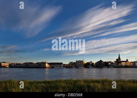 Waterford City as seen from the opposite bank of the River Suir, County Waterford, Ireland - Stock Photo