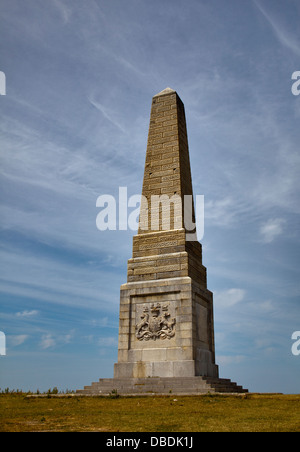 Yarborough War Memorial, Culver Down, Isle of Wight, Hampshire, England - Stock Photo