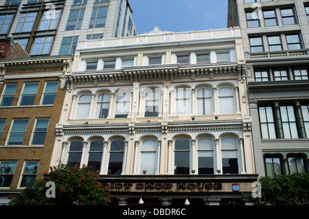 Venerable buildings along 7th Street NW, Washington, DC. - Stock Photo
