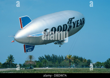 The Goodyear blimp 'Mayflower' rises from its East Coast operations base in Miami, Florida, in 1976, before it was - Stock Photo