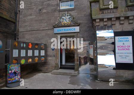 Camera Obscura in Castlehill Royal Mile old town Edinburgh Scotland Britain UK Europe - Stock Photo