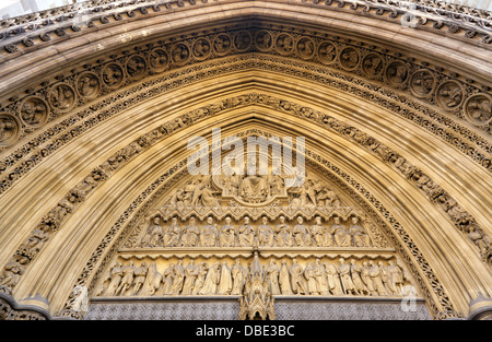 Archway and carvings over the north door to Westminster Abbey London. - Stock Photo & North door of Westminster Abbey London c1810 Stock Photo ... Pezcame.Com