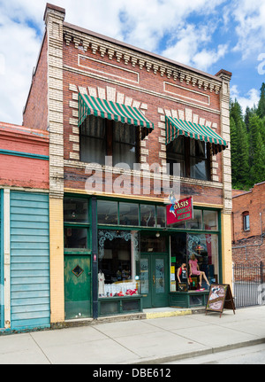 Oasis Bordello Museum on Cedar Street in the historic old silver mining town of Wallace, Idaho, USA - Stock Photo
