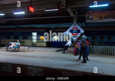 Dadar railway station - Stock Photo