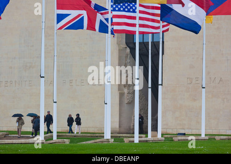 France, Normandy, Caen, Le Memorial Peace Museum, exterior. - Stock Photo