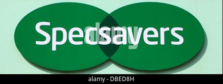 Specsavers shop sign, logo, England UK, Spec Savers - Stock Photo