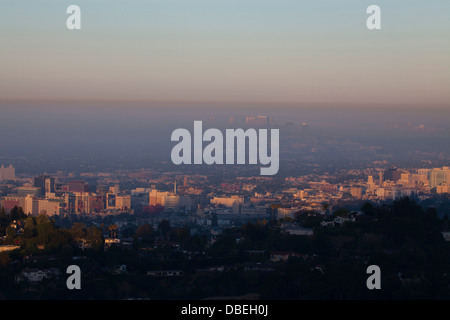 Hollywood, View from Griffith Observatory, Los Angeles, California, United States of America - Stock Photo