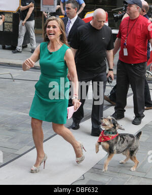 Meredith Vieira and her dog Jasper The 'Today Show' salutes Meredith Vieira's Last Day with NBC Network New York - Stock Photo