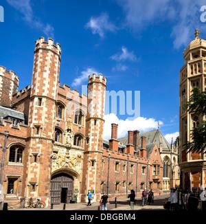 St John's College, part of the University of Cambridge, UK - Stock Photo
