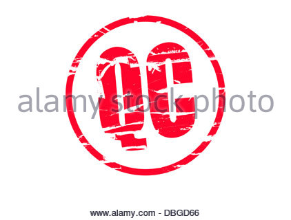 Digital composite Red Rubber stamp effect - Quality control - Stock Photo