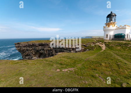 The automatic lighthouse on Brough of Birsay, Orkney. - Stock Photo