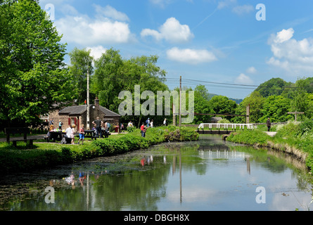 Cromford canal Derbyshire peak district england uk - Stock Photo