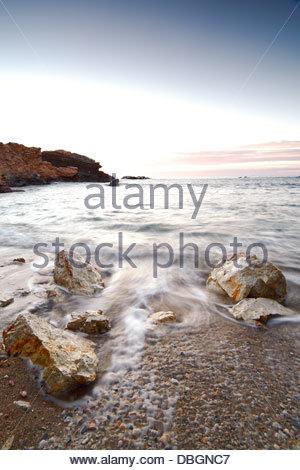 Sunrise at Cabo de Palos, Murcia, Spain. - Stock Photo