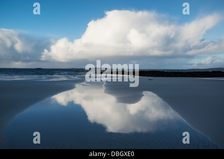 Traigh Hornais beach, North Uist, Outer Hebrides, Scotland - Stock Photo