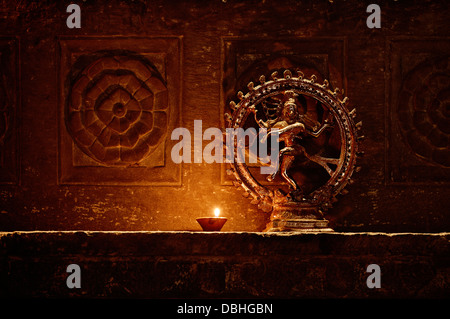 A statuette of the dancing Shiva . India, Udaipur - Stock Photo