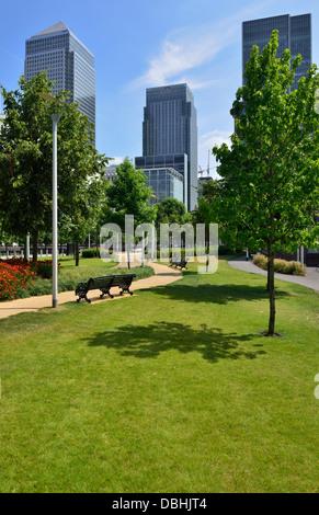 Canary Wharf Estate, Isle of Dogs, Docklands, London E14, United Kingdom - Stock Photo