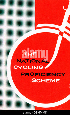 The National Cycling Proficiency Scheme leaflet 1950s 1960s by  RoSPA Royal Society for the Prevention of Accidents - Stock Photo