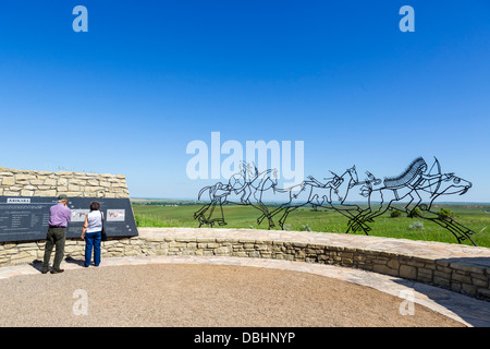 The Indian Memorial, Little Bighorn Battlefield National Monument, near Crow Agency, Montana, USA - Stock Photo
