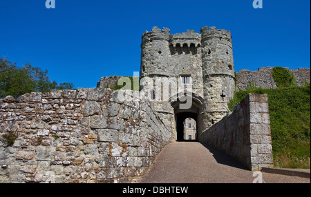 Entrance to Carisbrooke Castle, Newport, Isle of Wight, Hampshire, England - Stock Photo