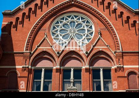 CINCINNATI - JULY 12: A close-up of Cincinnati Music Hall in Cincinnati on July 12, 2013. - Stock Photo