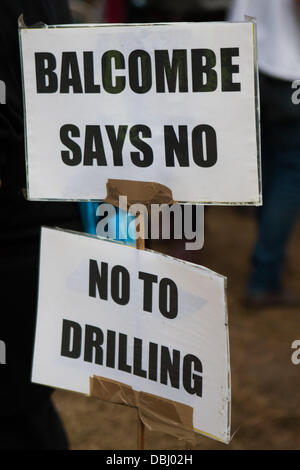 Balcombe, West Sussex, UK. 31st July, 2013. Protest against Cuadrilla drilling & fracking just outside the village of Balcombe in West Sussex. Balcombe, West Sussex, UK. Credit:  martyn wheatley/Alamy Live News