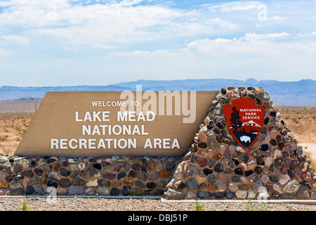 Entance to Lake Mead National Recreation Area, Lake Mead, Nevada, USA - Stock Photo