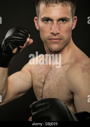 Mixed martial arts fighter - Stock Photo