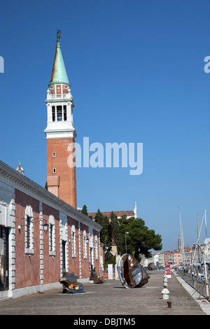 At the time of the 55th Venice's Biennale, a display of Mac Quinn's bronze sculptures on San Giorgio Maggiore island - Stock Photo