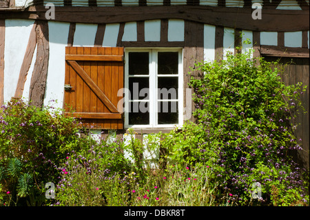 Window and shutter,Normandy farmhouse - Stock Photo