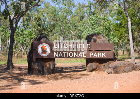 entrance to litchfield national park, northern territory,australia - Stock Photo