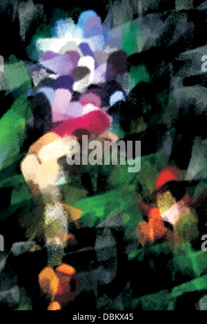 Abstract background with irregular shapes and colors. - Stock Photo