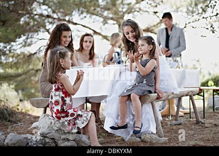 Wedding Celebration Outddors, Croatia, Europe - Stock Photo