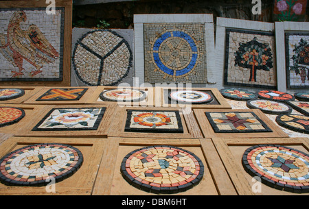 Mosaic boards for souvenir in Hatay,Turkey - Stock Photo