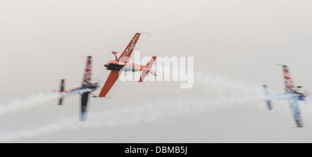 Blades Aerobatic Display Team performing stunning display at RNAS Culdrose Air Show (c) Bob Sharples/Alamy - Stock Photo