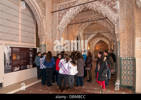 The Lions Courtyard, The Alhambra, Granada, Region of Andalusia, Spain, Europe - Stock Photo