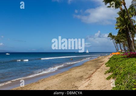 Hyatt Regency Resort on Kaanapali Beach on the west coast of the island of Maui in Hawaii. Stock Photo