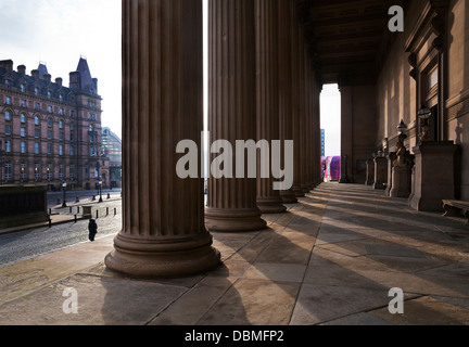 St George's Hall, Lime Street, Liverpool, Merseyside, England - Stock Photo