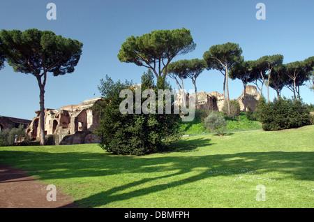 Palatine Hill in Roman Forum, Rome, Italy Stock Photo