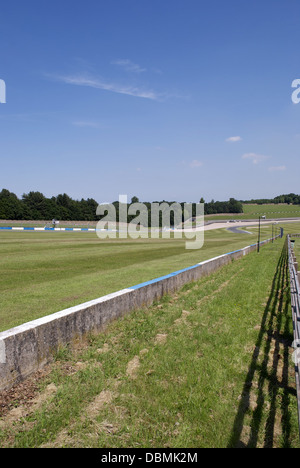 downhill stretch at donnington park race track - Stock Photo