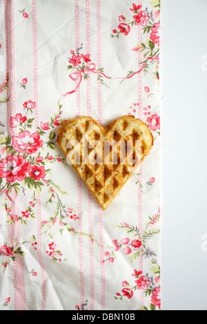Heart Shaped Waffle, Munich, Bavaria, Germany, Europe