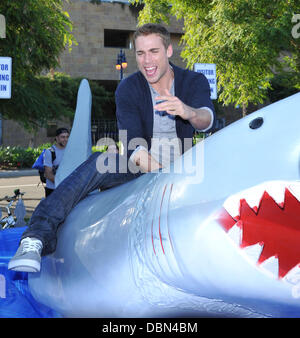 Dustin Milligan     'Shark Night 3D' photo op held at Petco park.  Los Angeles, California - 20.07.11 - Stock Photo