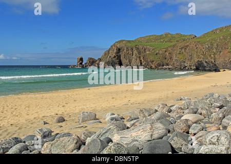 UK Scotland Outer Hebrides isle of lewis Dhail Mor bay - Stock Photo
