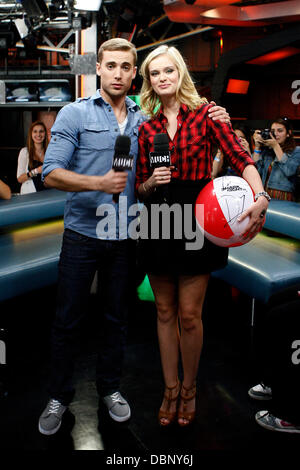 Sara Paxton and Dustin Milligan appearances on Much Music's New.Music.Live to promote the film 'Shark Night 3D'. - Stock Photo