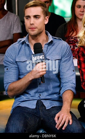 Dustin Milligan appearances on Much Music's New.Music.Live to promote the film 'Shark Night 3D'. Toronto, Canada - Stock Photo