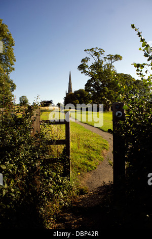 All Saints' Church, Braunston village, Northamptonshire, Northants, England, UK,GB,rural England, country life, - Stock Photo