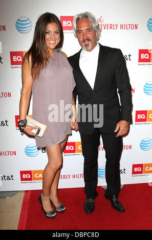 TV personality Raquel Castaneda and Michael Habicht 2011 Los Angeles Equality Awards held at The Beverly Hilton - Stock Photo