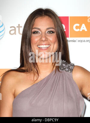 TV personality Raquel Castaneda 2011 Los Angeles Equality Awards held at The Beverly Hilton hotel - Arrivals Los - Stock Photo