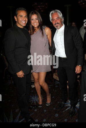Los Angeles Mayor Antonio Villaraigosa, TV personality Raquel Castaneda, Michael Habicht 2011 Los Angeles Equality - Stock Photo