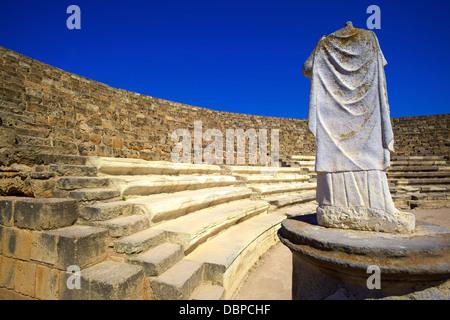 Roman Theatre, Salamis, North Cyprus, Cyprus, Europe - Stock Photo